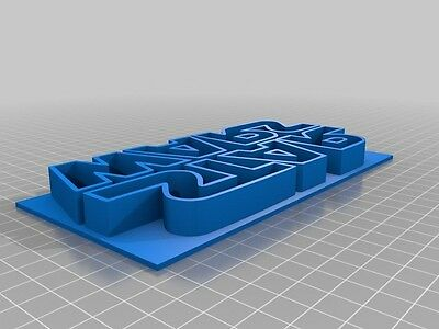 3D Printed Quality Star Wars Logo Cookie Cutter