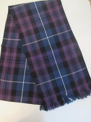 "Ladies or Mens Pride of Scotland Sash  88"" X 11"" New With Defect"