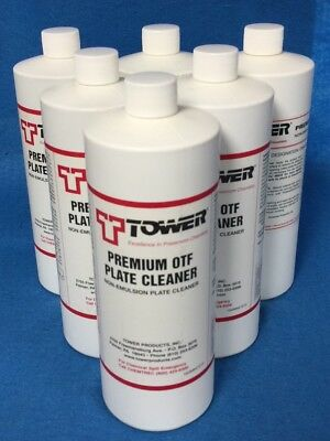 Offset Plate Cleaner Tower On-The-Fly 6 X 1 Qt Bottles $105.00 Value