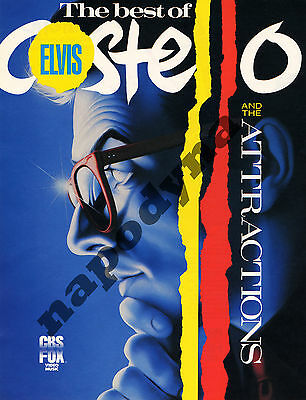 The Best of Elvis Costello & The Attractions Promo Flyer 22 Videos VHS Release