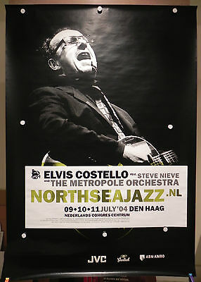 Elvis Costello w/ Steve Nieve Metropole Orch Concert Poster North Sea Jazz 2004