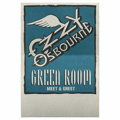 Ozzy Osbourne authentic 1991 No More Tears Tour satin cloth Backstage Pass