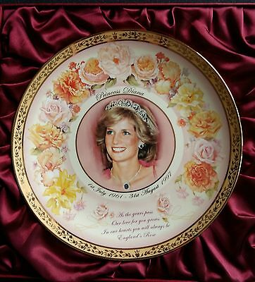 Princess Diana, England's Rose Plate from The Bradford Exchange Limited to 999