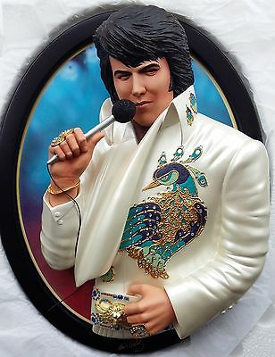 Elvis Living Legend 3-Dimensional Wall Plaque Bradford Exchange Limited to 3000