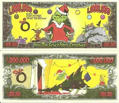 How The Grinch Stole Christmas Million Dollar Bills x 4 United States America