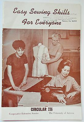 Vintage Easy Sewing Skills For Everyone Sewing Booklet by Cooperative Extension