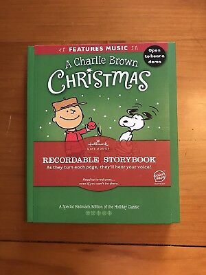 NEW Hallmark A Charlie Brown Christmas Recordable Storybook by Charles M. Schulz