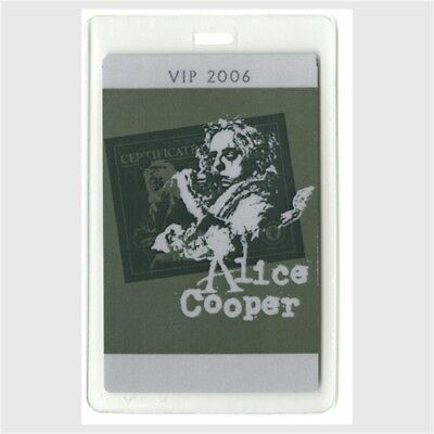 Alice Cooper authentic 2006 concert Laminated Backstage Pass Dirty Diamonds Tour
