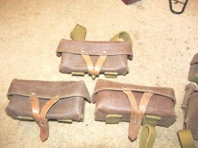 3  russian soviet red army sks ammo pouches