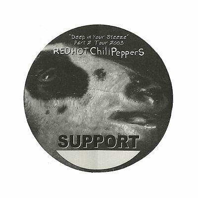 Red Hot Chili Peppers authentic Support 2003 tour Backstage Pass