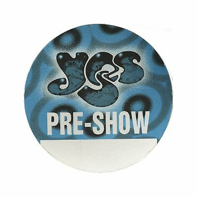 Yes authentic 1997 Open Up Your Eyes tour satin Backstage Pass band pre show