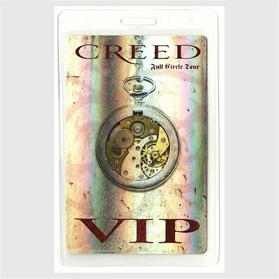 Creed authentic 2010 concert Laminated Backstage Pass Full Circle Tour VIP