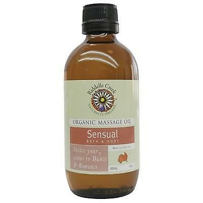 RIDDELLS CREEK Organic Massage Oil Sensual 200ml