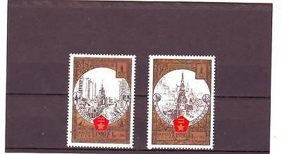 RUSSIA - SG4968-4969 MNH 1980 OLYMPIC TOURISM ROUND GOLDEN RING - 6th ISSUE