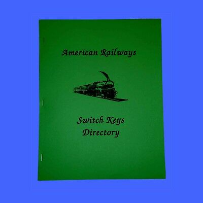 American Railways Switch Keys Directory- 45 pgs- 600+pics-no Railroad Brass Lock