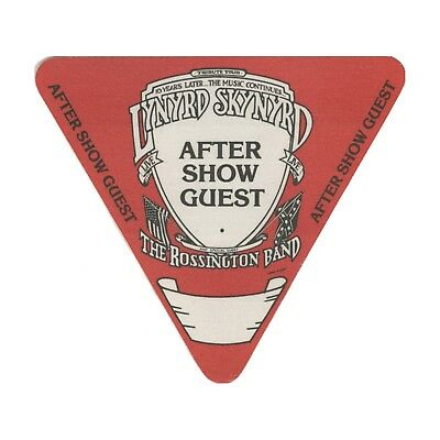 Lynyrd Skynyrd authentic Aftershow 1987-1988 tour Backstage Pass