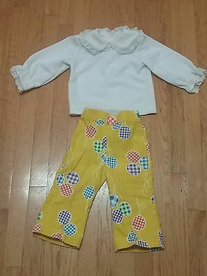 Vintage 1950s retro mod blouse pants lot 2 3 toddler summer church party