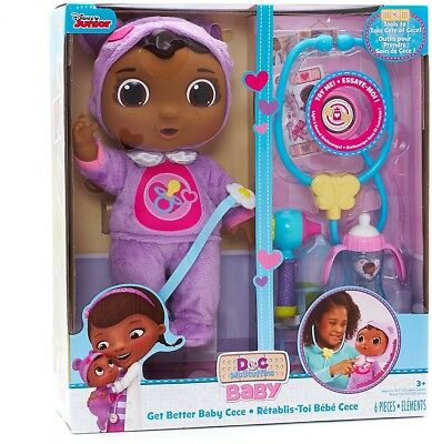 Doc McStuffins Baby Cece Check Up Doll 5 Accessories Girls Kids Toy Gift Play