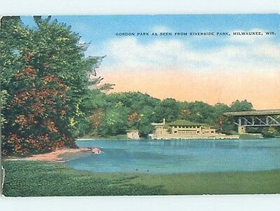 Unused Linen PARK SCENE Milwaukee Wisconsin WI hk6604