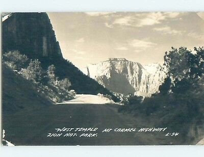 Pre-1950 rppc MOUNT CARMEL HIGHWAY AT ZION NATIONAL PARK By St. George UT HM3699