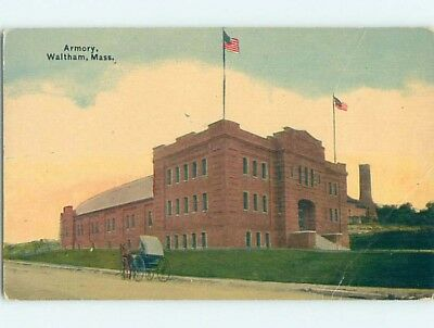 Divided-Back POSTCARD FROM Waltham Massachusetts MA HM7720