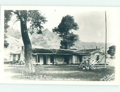 Pre-1950 rppc COLONEL CODY'S OLD RANCH Cody Wyoming WY HM3573