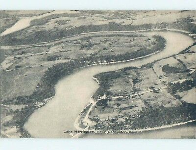 Divided-Back AERIAL VIEW OF LAKE HERRINGTON Lancaster Kentucky KY HM6134-12