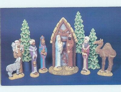 1980's Postcard Ad NATIVITY SCENE FROM NOWELL'S MOLDS Bowie Maryland MD HM4416