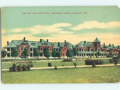 Divided-Back SOLDIERS HOME HOSPITAL Marion Indiana IN HM7698