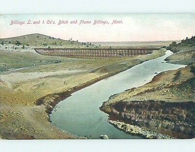 Unused Divided-Back POSTCARD FROM Billings Montana MT HM5881