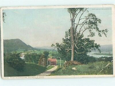 Bent Divided-Back POSTCARD FROM Pittsfield Massachusetts MA HM8760
