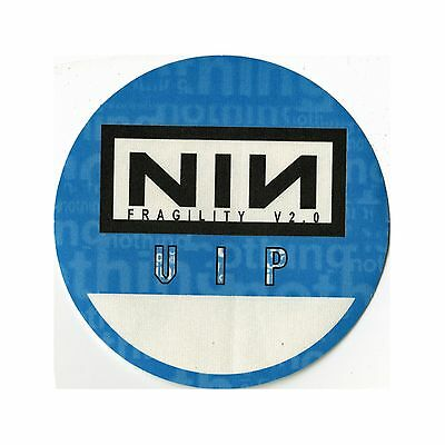 Nine Inch Nails authentic 1999 Fragility Tour satin Backstage Pass VIP blue