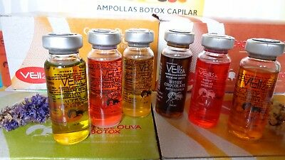 Vell'za 14ml Capillary BTX Ampoules For Hair Deep Hydration  6 assorted Units