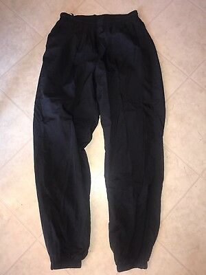 NIKE ~ Vtg Unisex Black Lined Track Wind Pants Athletic Gym Nylon XL Men Women