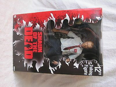 """Rare - 2004 - Neca - Shaun Of The Dead - Talking 12"""" Action Figure - New In Box"""