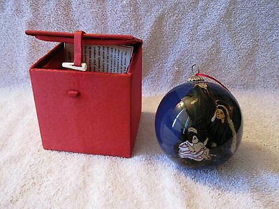 Artline - Beautiful - Reverse Painted - Glass - Mary And Baby Jesus Ornament!!
