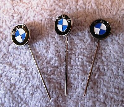 Rare - Lot Of 3 Beautiful Bmw Stick Pins - Highly Collectible - Great Gift Items