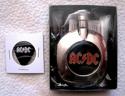 Brand-New - Ac/dc Mini-Flask + Promo Ac/dc Pick - Excellent Gift Items!!