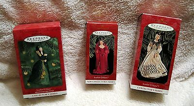 Lot Of 3 - Gone With The Wind- Scarlett O'hara - Hallmark Ornaments - Great Gift