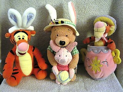 Beautiful - Set Of 3 - Disney - Winnie-The-Pooh - Easter Plush Toys - Great Gift