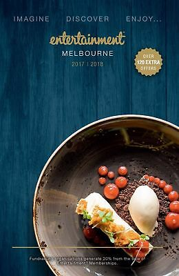 MELBOURNE 2017/18 Entertainment Book -  3 vouchers for $5