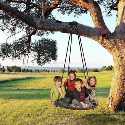 100Cm Padded Fab ric Crows Nest Rope Swing Spider Web Net Outdoor Garden Seat