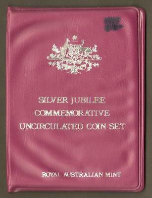 Ram 1977 Silver Jubilee Commemorative Mint Set 6 Unc Coins - Royal Aust Mint