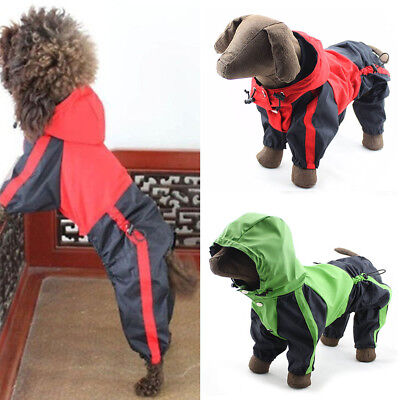 US Dog waterproof rain coat, trouser suit, clothes, mac SMALL to EXTRA LARGE new