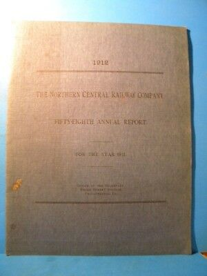 Northern Central Railway Company 58th Annual Report 1912 SC 40 Pages