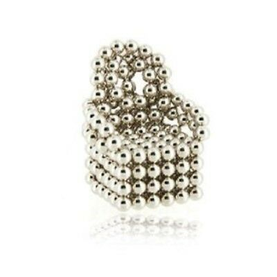 216 Silver Magnetic Beads Classical Magic Cube Puzzle