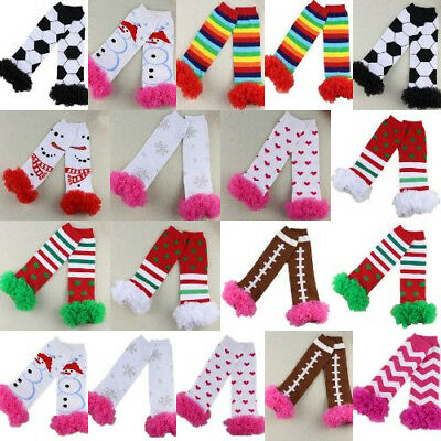 Ruffles Snowman Christmas Baby Leg Warmers for Girls