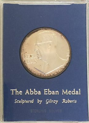 Israel, The Abba Eban Medal, Sterling Silver, 39 mm, Statesman For Peace