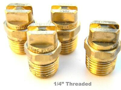 "Carpet Cleaning - Wand Brass V-Jets 9502 1/4"" threaded"