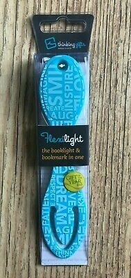 Wordy Design Booklight Flexilight Bends Forwards at Any Angle New Birthday Gift